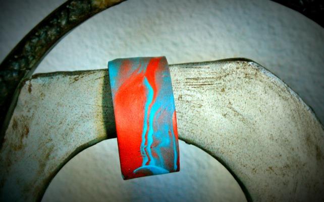 brazalete bronce-turquesa